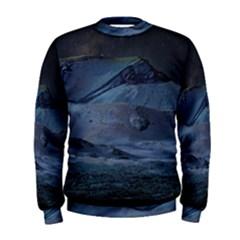 Landscape Night Lunar Sky Scene Men s Sweatshirt