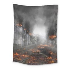 Armageddon Destruction Apocalypse Medium Tapestry