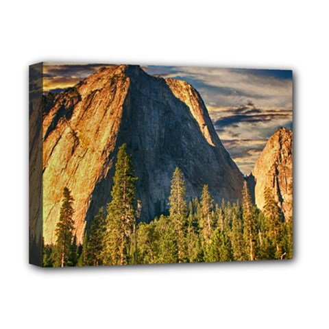 Mountains Landscape Rock Forest Deluxe Canvas 16  X 12