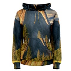 Mountains Landscape Rock Forest Women s Pullover Hoodie
