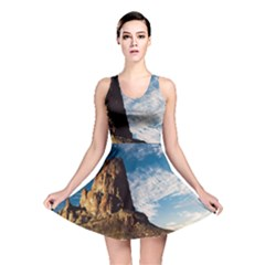 Mountain Desert Landscape Nature Reversible Skater Dress