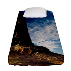 Mountain Desert Landscape Nature Fitted Sheet (single Size)