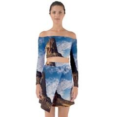 Mountain Desert Landscape Nature Off Shoulder Top With Skirt Set