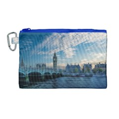 London Westminster Landmark England Canvas Cosmetic Bag (large)