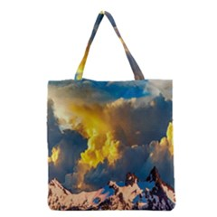 Mountains Clouds Landscape Scenic Grocery Tote Bag