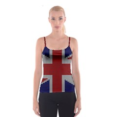 Union Jack Flag British Flag Spaghetti Strap Top