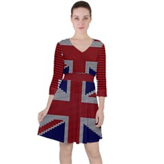 Union Jack Flag British Flag Ruffle Dress