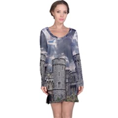 Castle Building Architecture Long Sleeve Nightdress