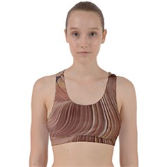 Swirling Patterns Of The Wave Back Weave Sports Bra