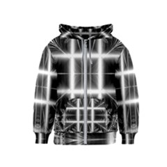 Geometry Pattern Backdrop Design Kids  Zipper Hoodie