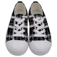 Geometry Pattern Backdrop Design Kids  Low Top Canvas Sneakers