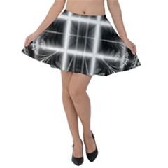 Geometry Pattern Backdrop Design Velvet Skater Skirt
