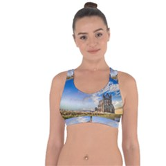 Ruin Church Ancient Architecture Cross String Back Sports Bra