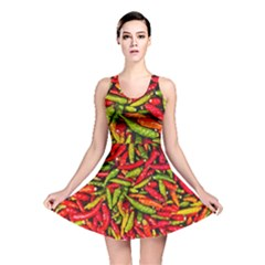 Chilli Pepper Spicy Hot Red Spice Reversible Skater Dress