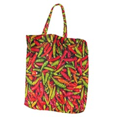 Chilli Pepper Spicy Hot Red Spice Giant Grocery Zipper Tote