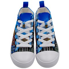 Buildings Architecture Architectural Kid s Mid Top Canvas Sneakers