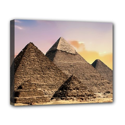 Pyramids Egypt Deluxe Canvas 20  X 16