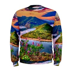 Landscape River Nature Water Sky Men s Sweatshirt