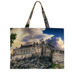 Castle Monument Landmark Zipper Large Tote Bag