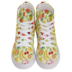 Cute Fruits Pattern Men s Hi Top Skate Sneakers