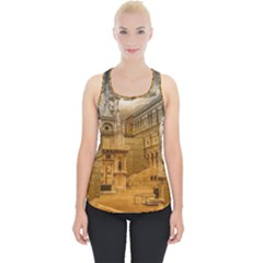 Palace Monument Architecture Piece Up Tank Top