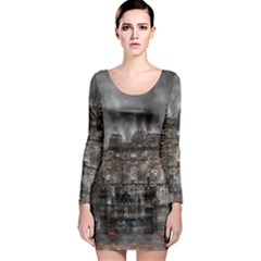 Armageddon War Apocalypse Long Sleeve Bodycon Dress
