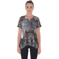 Armageddon War Apocalypse Cut Out Side Drop Tee