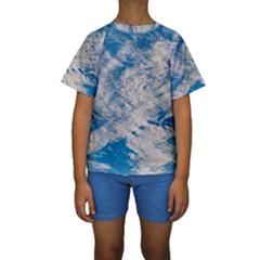 Clouds Sky Scene Kids  Short Sleeve Swimwear