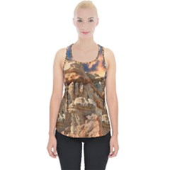 Canyon Dramatic Landscape Sky Piece Up Tank Top