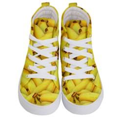 Yellow Banana Fruit Vegetarian Natural Kid s Hi Top Skate Sneakers