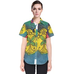 Cross Flowers Women s Short Sleeve Shirt