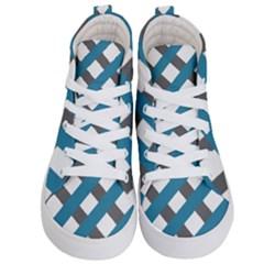 Grayblue Kid s Hi Top Skate Sneakers