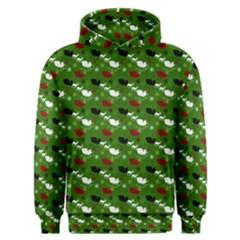 Snow Sleigh Deer Green Men s Overhead Hoodie