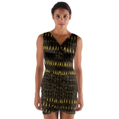 Hot As Candles And Fireworks In The Night Sky Wrap Front Bodycon Dress