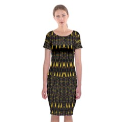 Hot As Candles And Fireworks In The Night Sky Classic Short Sleeve Midi Dress