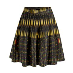 Hot As Candles And Fireworks In The Night Sky High Waist Skirt