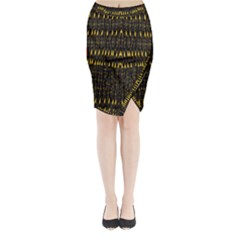 Hot As Candles And Fireworks In The Night Sky Midi Wrap Pencil Skirt