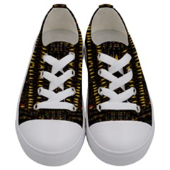 Hot As Candles And Fireworks In The Night Sky Kids  Low Top Canvas Sneakers
