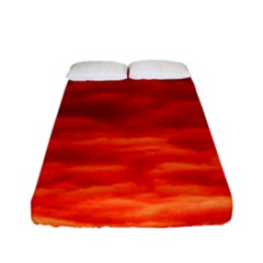 Red Cloud Fitted Sheet (full/ Double Size)