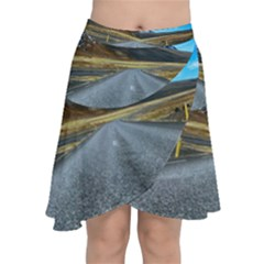 Road Mountain Landscape Travel Chiffon Wrap