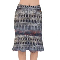 Colosseum Italy Landmark Coliseum Mermaid Skirt