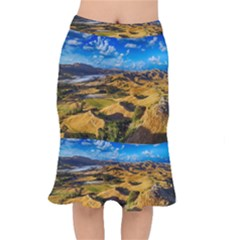 Hills Countryside Landscape Rural Mermaid Skirt