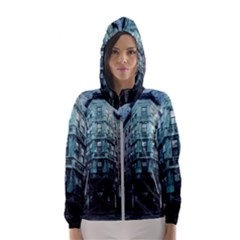 Storm Weather Thunderstorm Nature Hooded Wind Breaker (women)