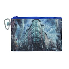 Storm Weather Thunderstorm Nature Canvas Cosmetic Bag (large)