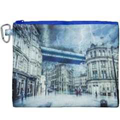 Storm Weather Nature Thunderstorm Canvas Cosmetic Bag (xxxl)