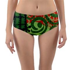 Turtle Reversible Mid Waist Bikini Bottoms
