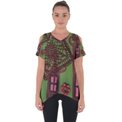 Kite In The Sky Cut Out Side Drop Tee