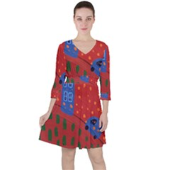 Almost Home Ruffle Dress