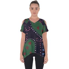 Christmas Hearts Cut Out Side Drop Tee