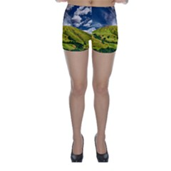 Hill Countryside Landscape Nature Skinny Shorts